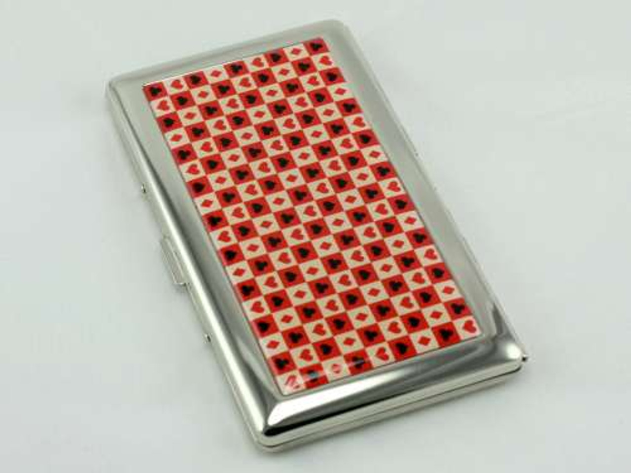 Card Suits Mirror Cigarette Case