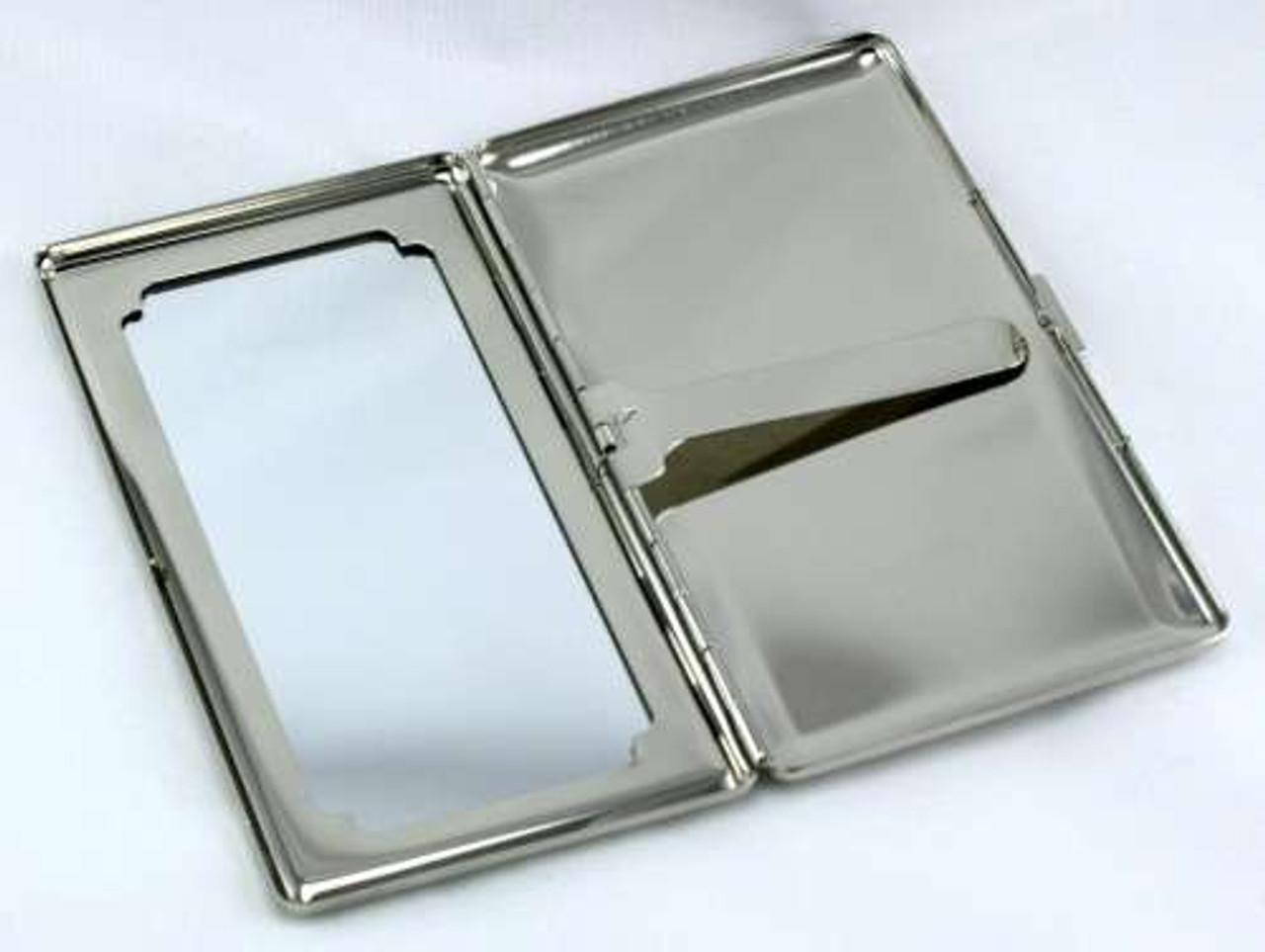 Orange Line Mirror Cigarette Case