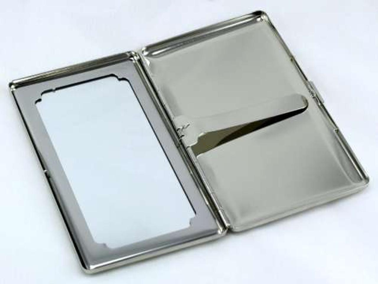 Sparkling Silver Mirror Cigarette Case