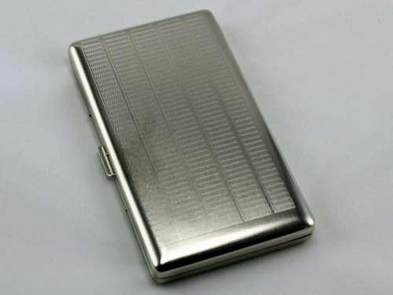 Silver Etched Mirror Cigarette Case