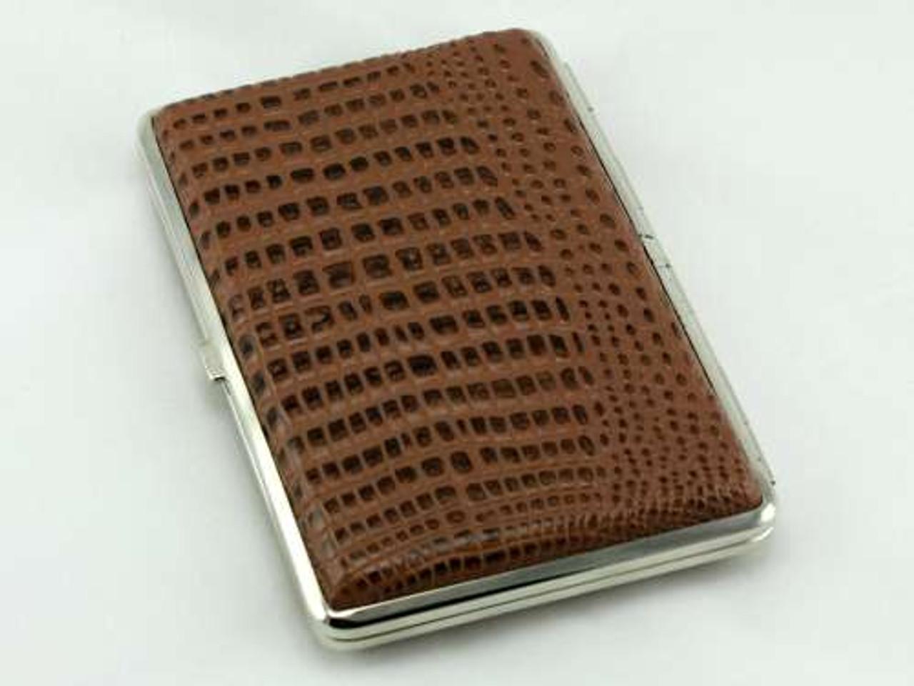 Brown Alligator Cigarette Case