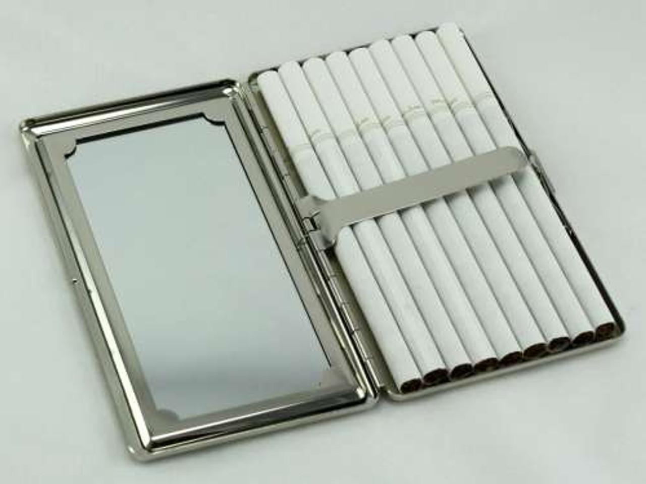 Cheetah Fur Mirror Cigarette Case