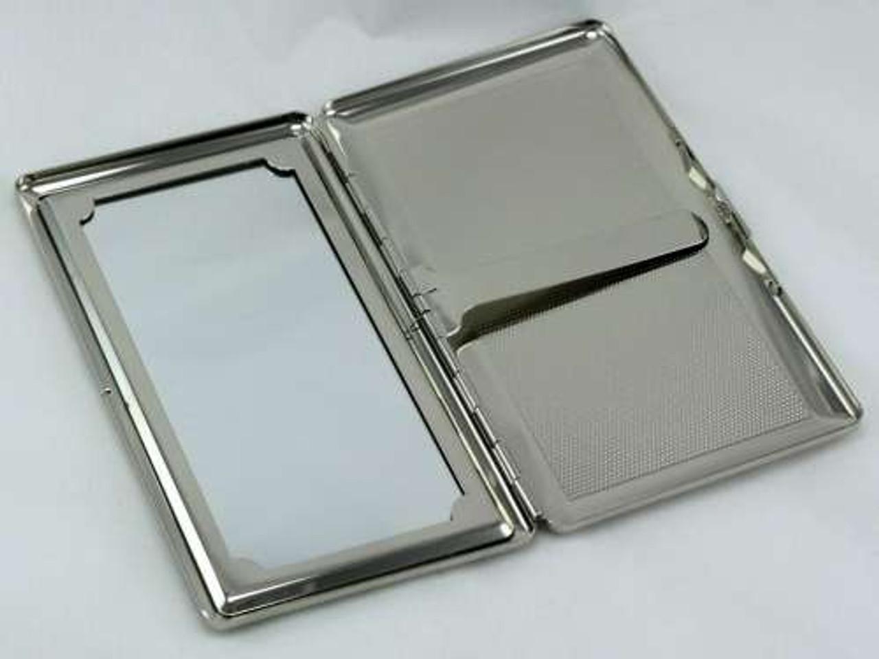 Blue Burst Mirror Cigarette Case