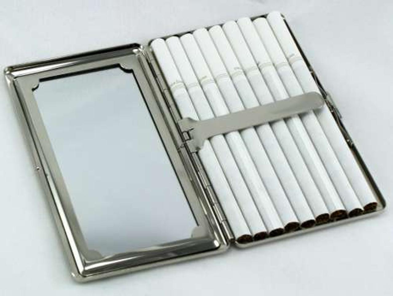 Purple Floral Mirror Cigarette Case