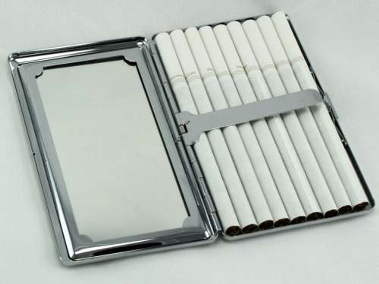 White Sparkling Mirror Cigarette Case