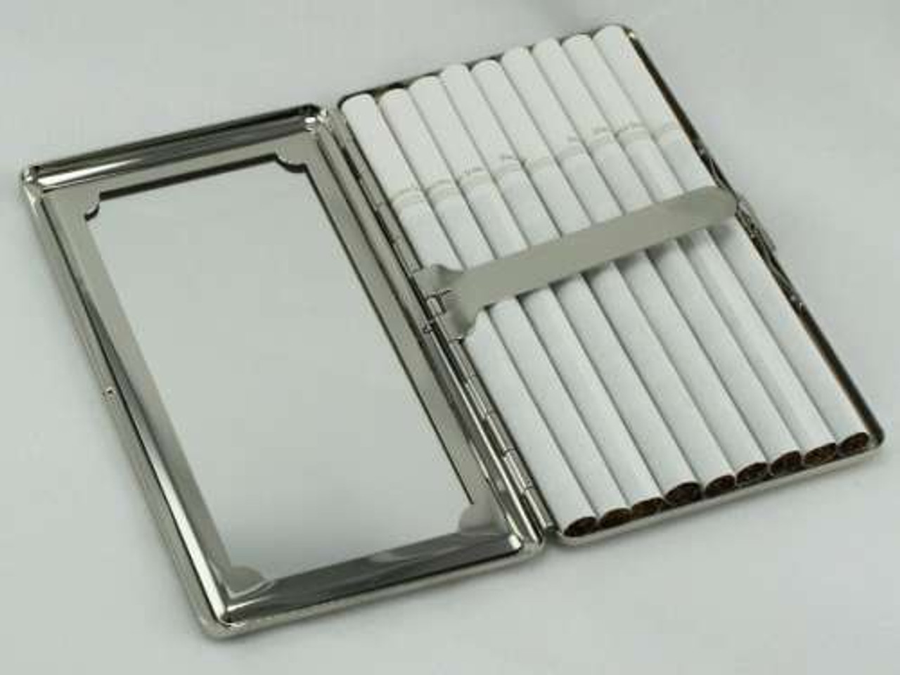 Circular Art Mirror Cigarette Case