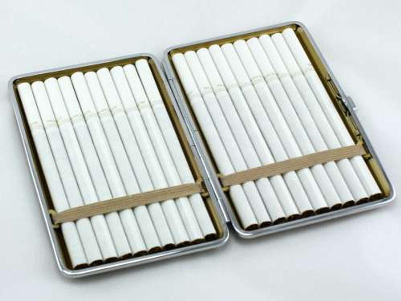 Modern Brown Leather Cigarette Case