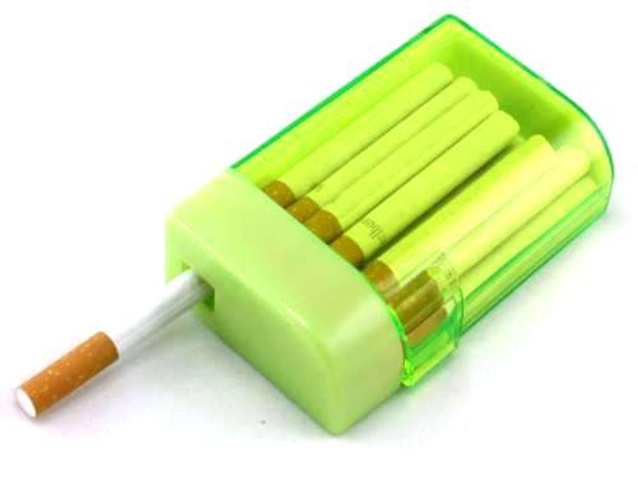 Clear Green Plastic Cigarette Case