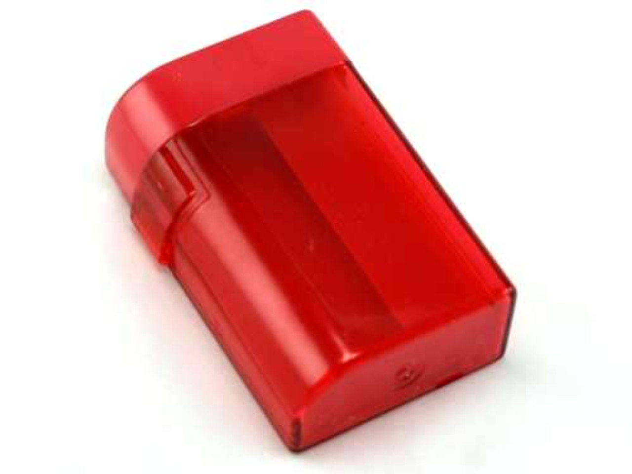 Clear Red Plastic Cigarette Case