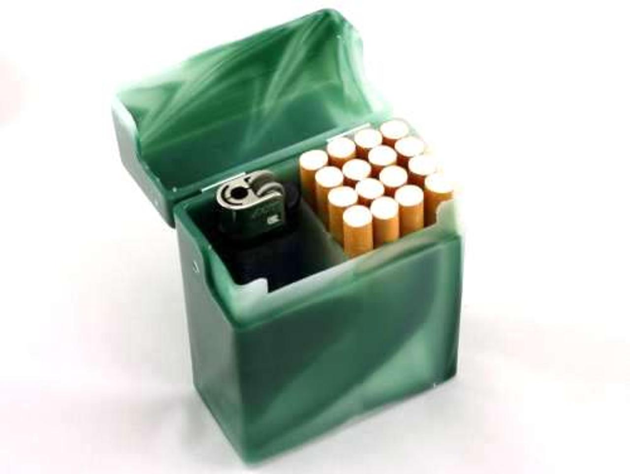 Green Marble Plastic Cigarette Case