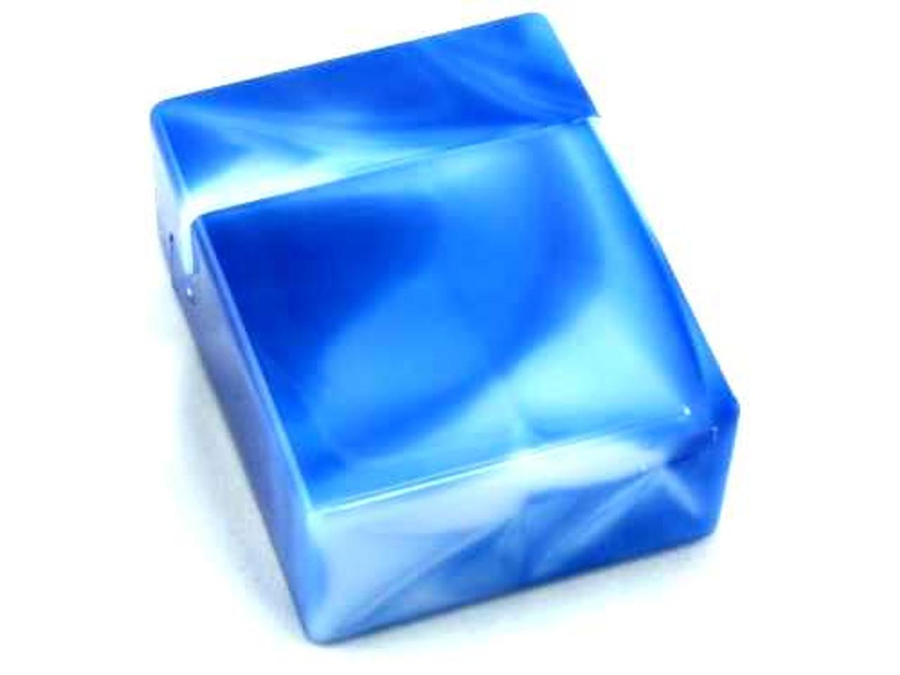 Sky Blue Marble Plastic Cigarette Case