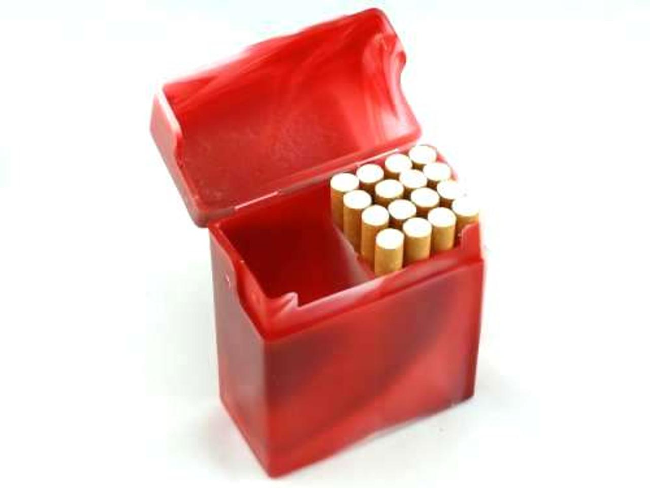 Red Marble Plastic Cigarette Case