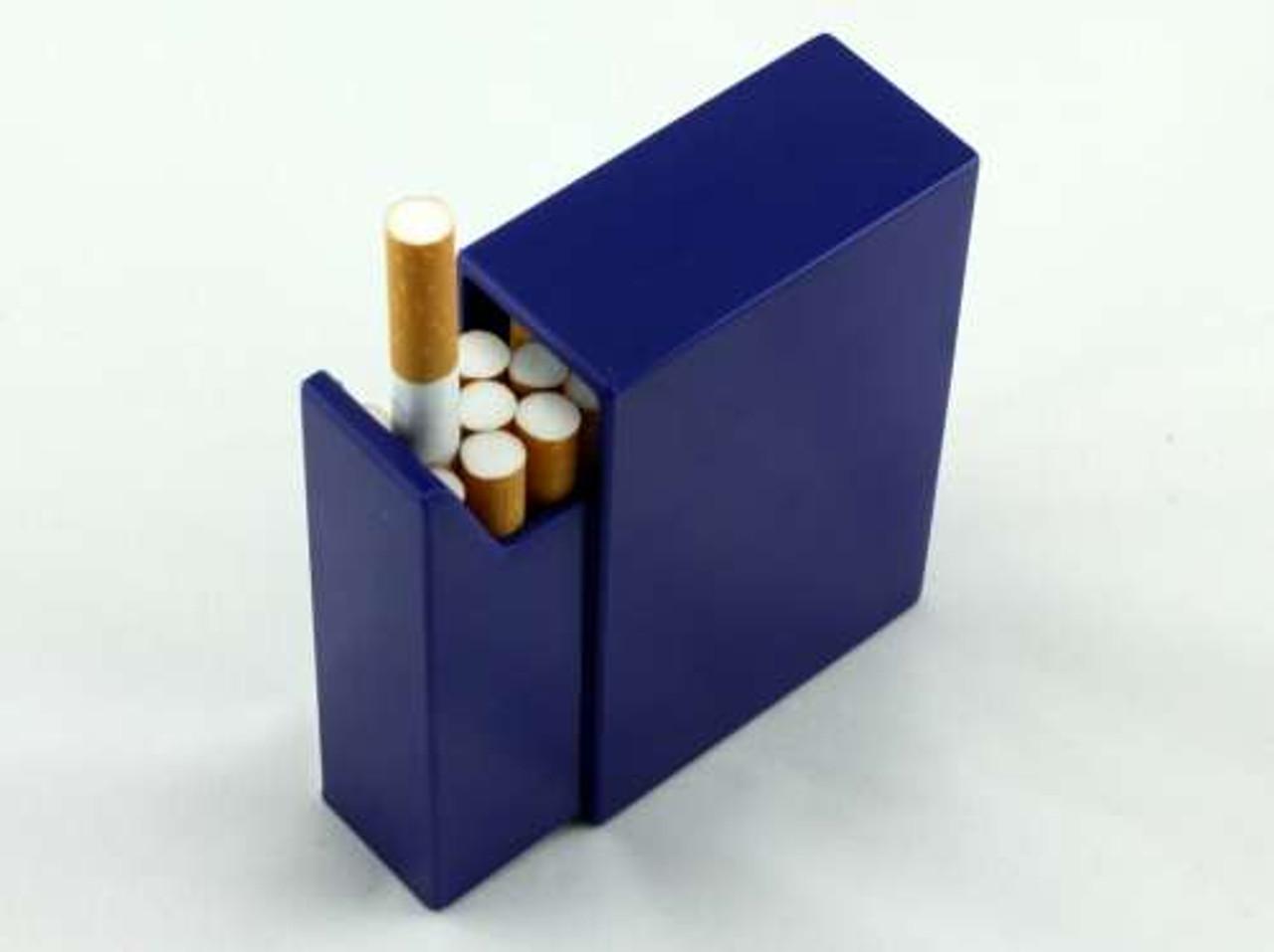 Blue Slide Plastic Cigarette Case