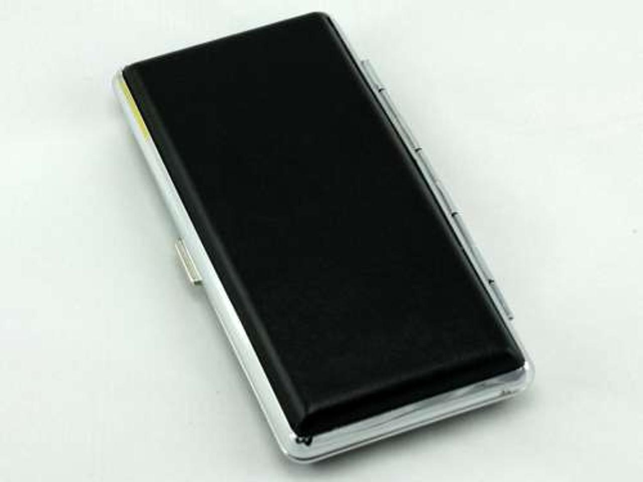 Black Leather Cigarette Case