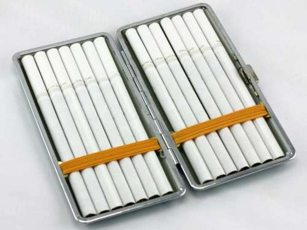Red Leather Cigarette Case