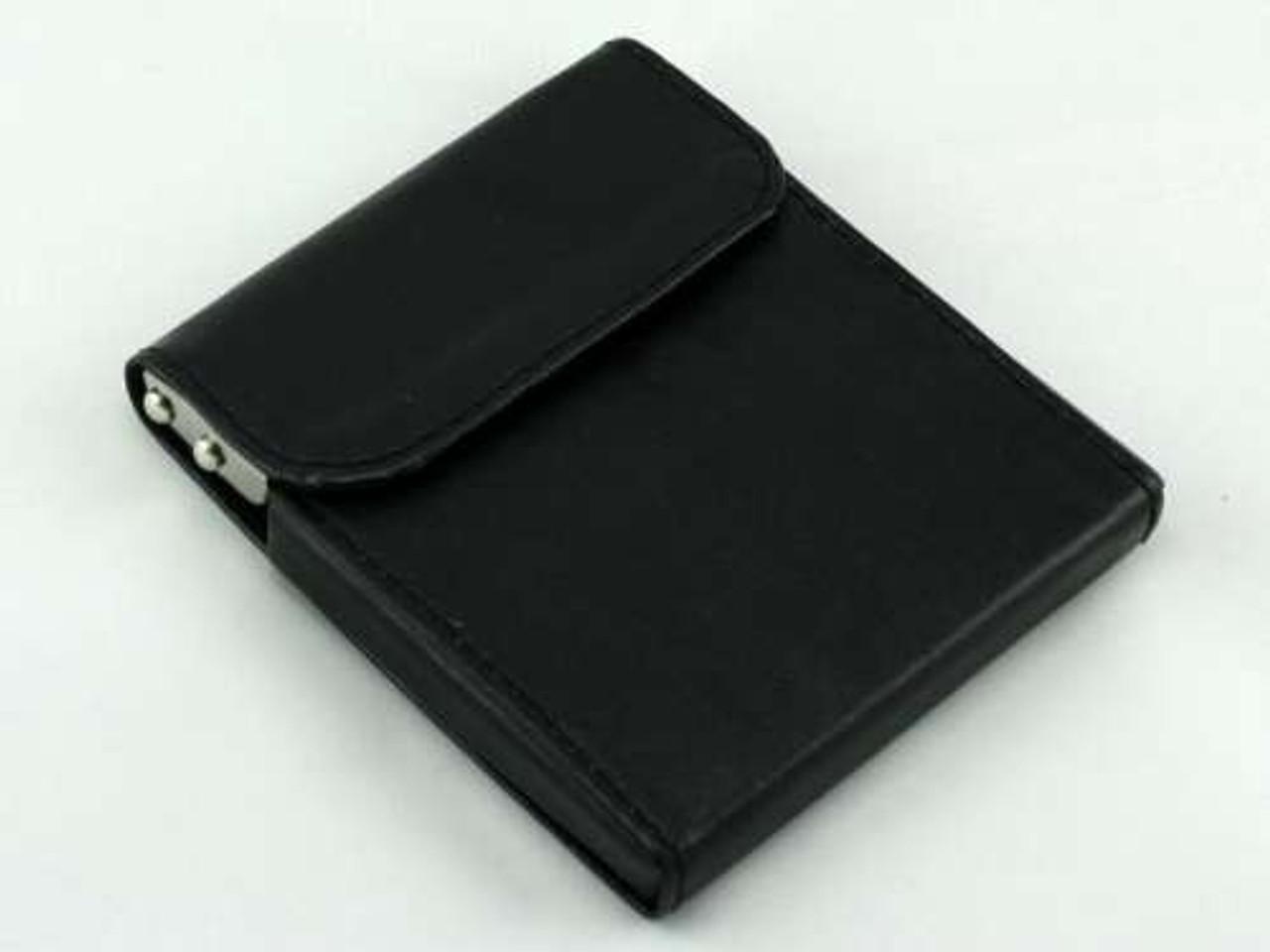 Black Flip Top Cigarette Case
