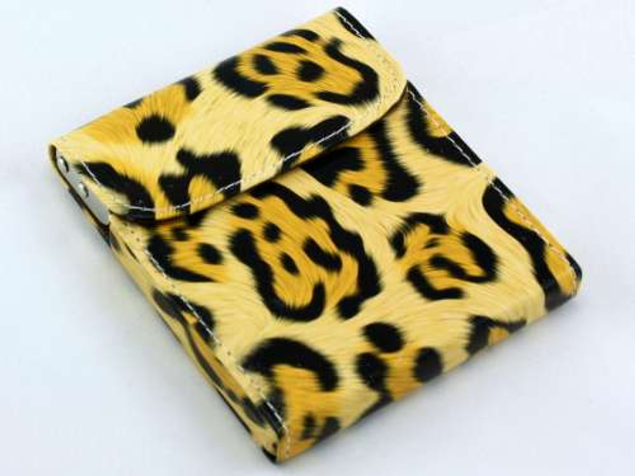 Cheetah Flip Top Cigarette Case
