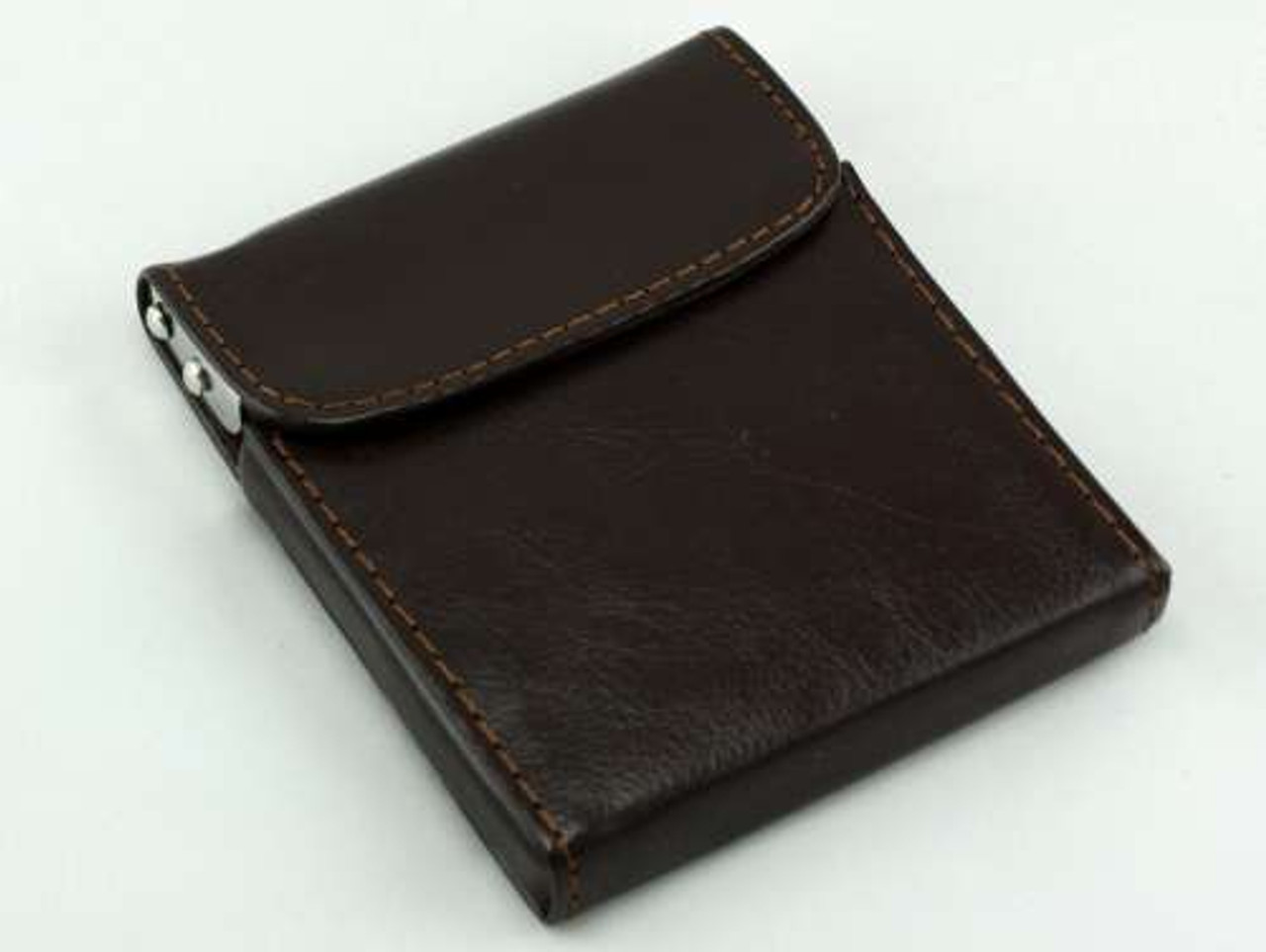 Brown Flip Top Cigarette Case