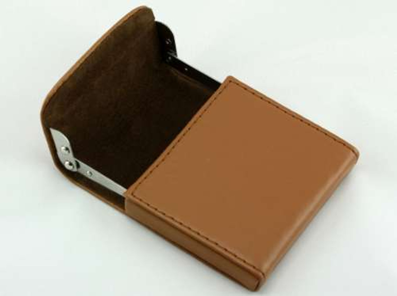 Tan Flip Top Cigarette Case