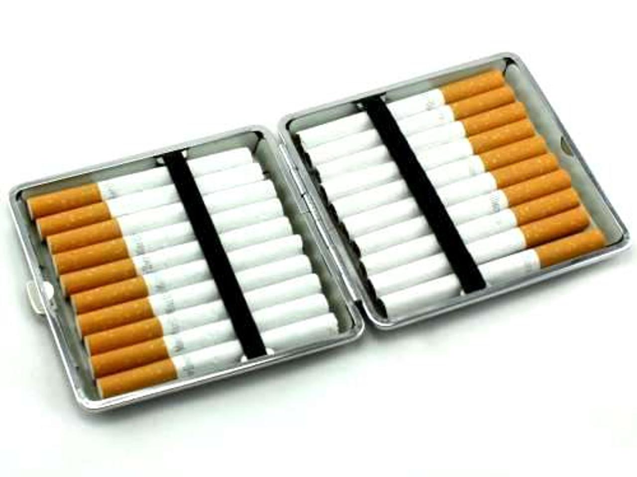 Dark Brown Floral Cigarette Case