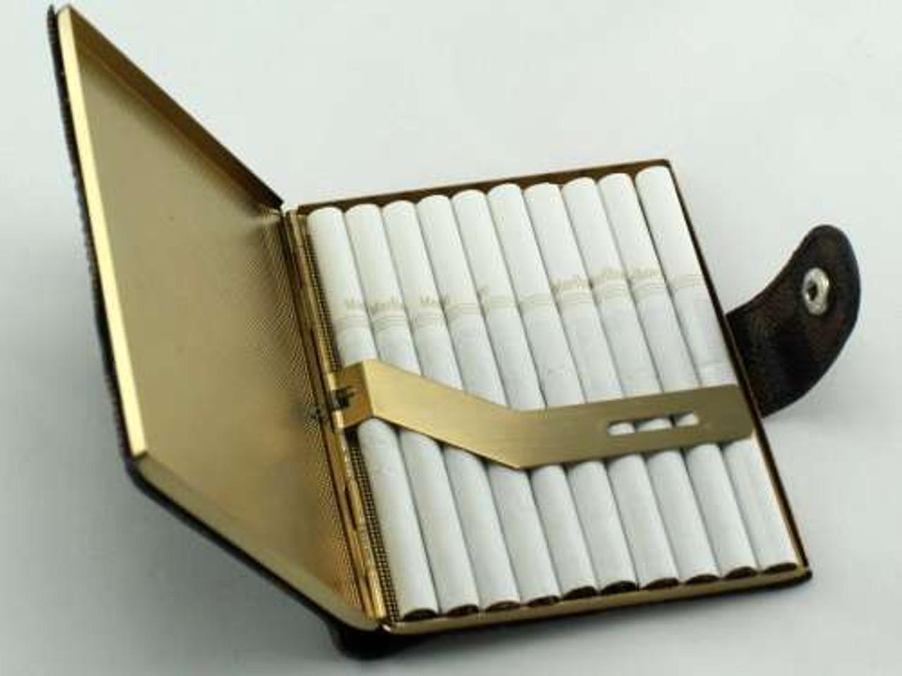 Brown Checkered Snap Cigarette Case