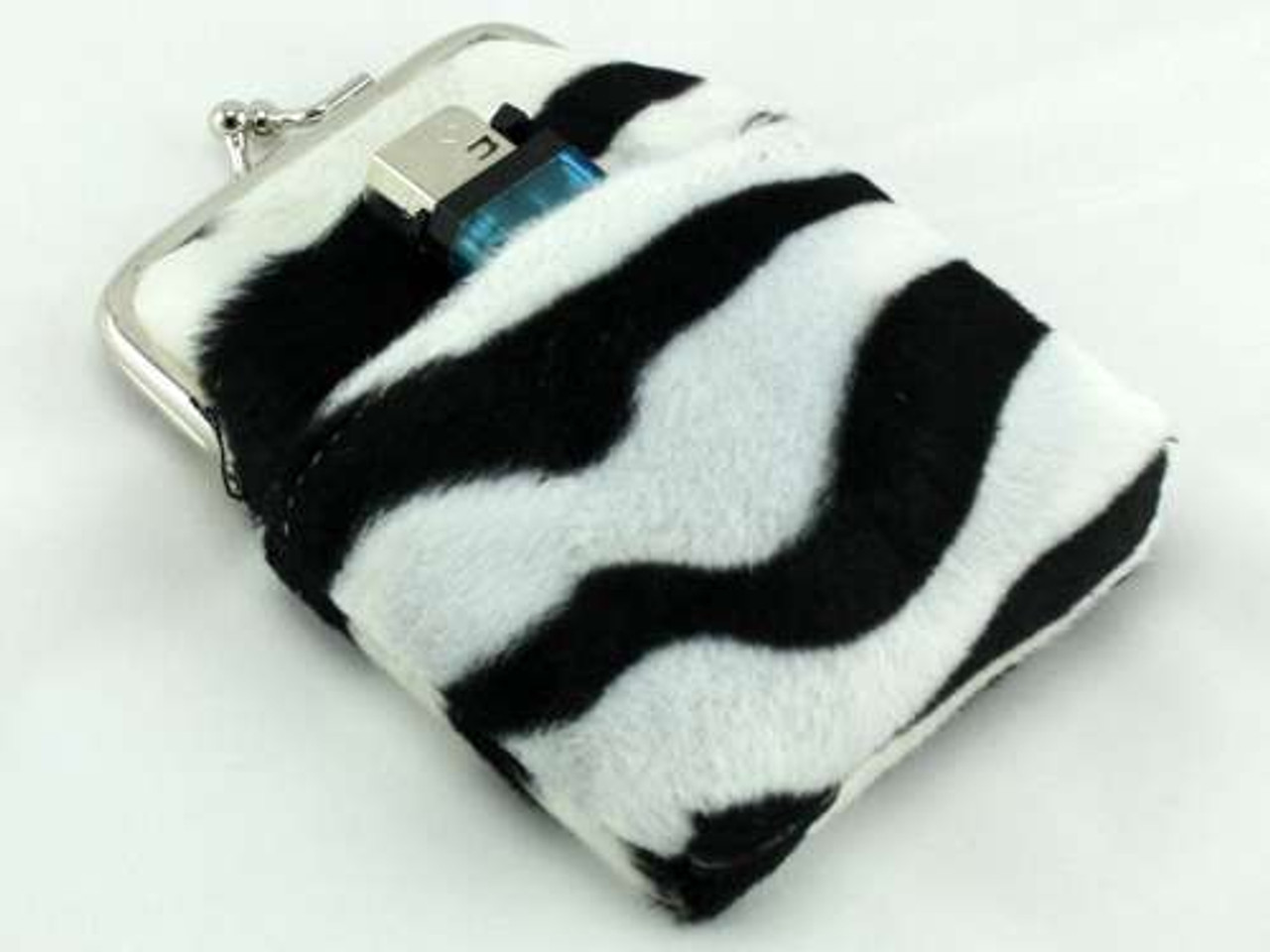 Zebra Fur Cigarette Pack Holder
