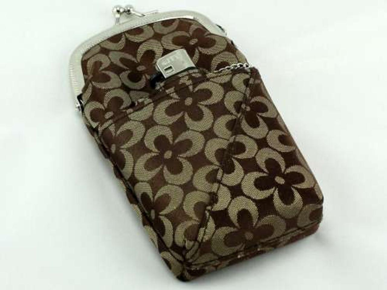 Brown Floral Cigarette Pack Holder