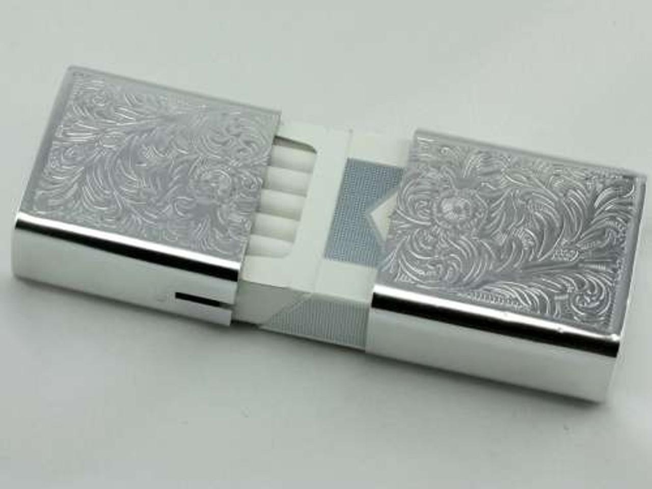 Silver Strong Box Cigarette Pack Holder