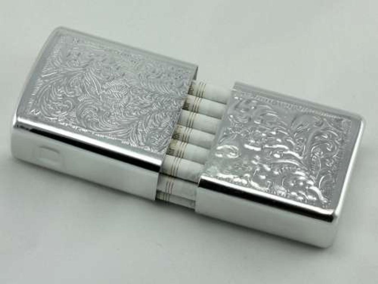 Silver Strong Box Cigarette Case