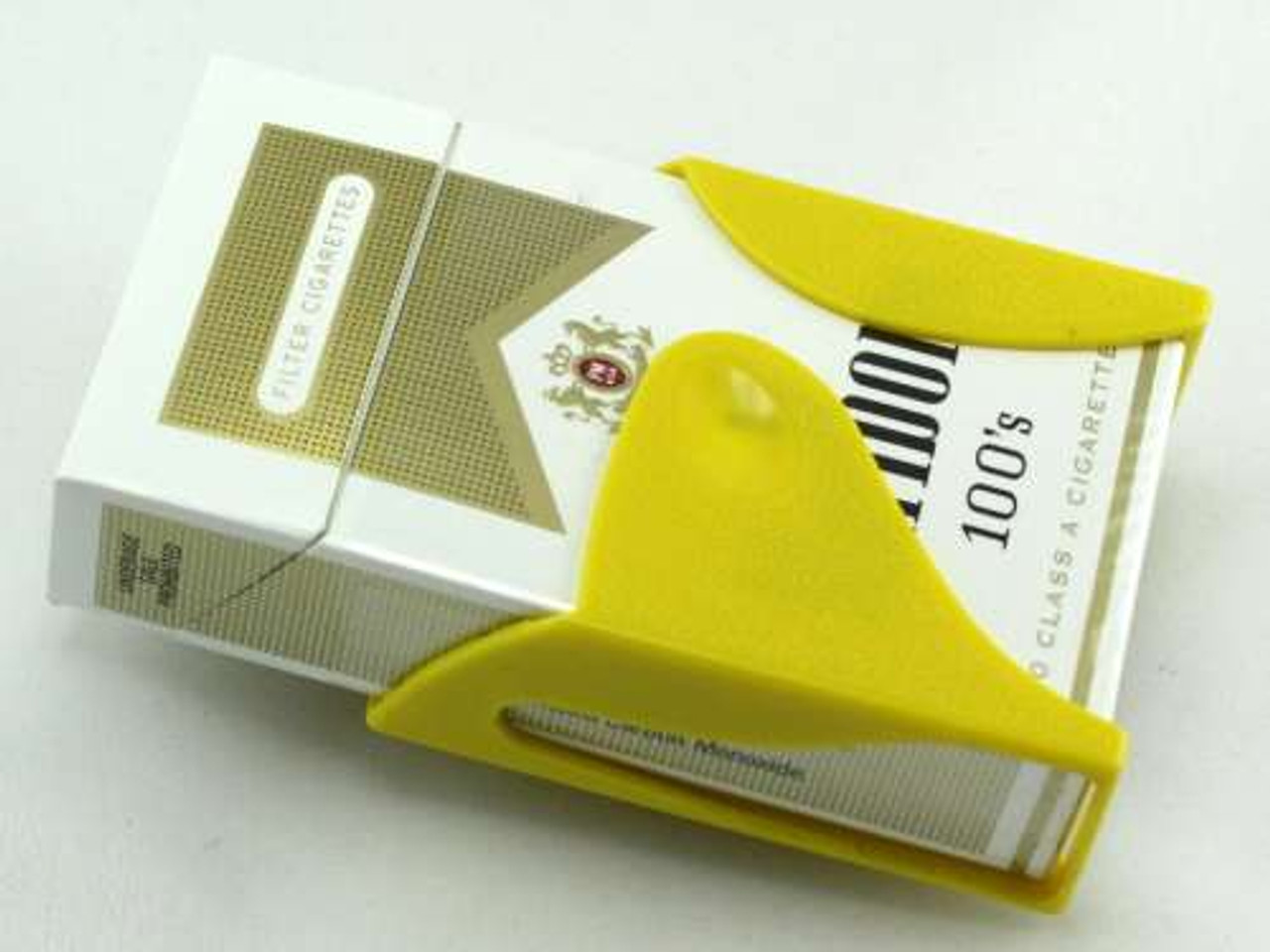Yellow Belt Clip Cigarette Pack Holder