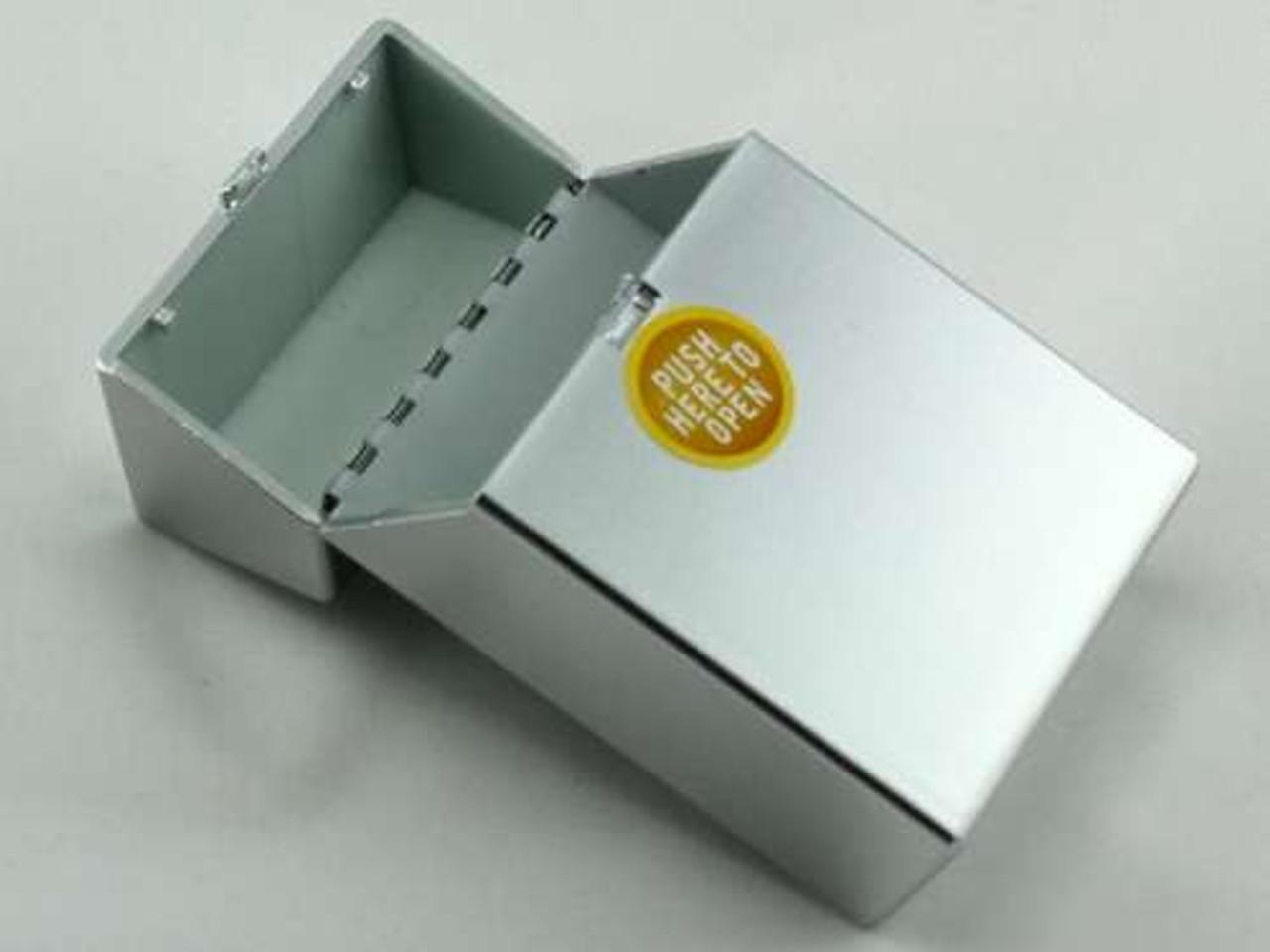 Silver Push Cigarette Pack Holder