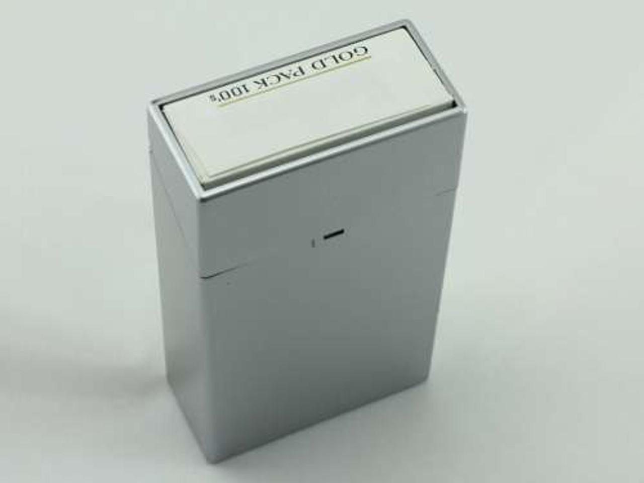 Silver Open Cigarette Pack Holder