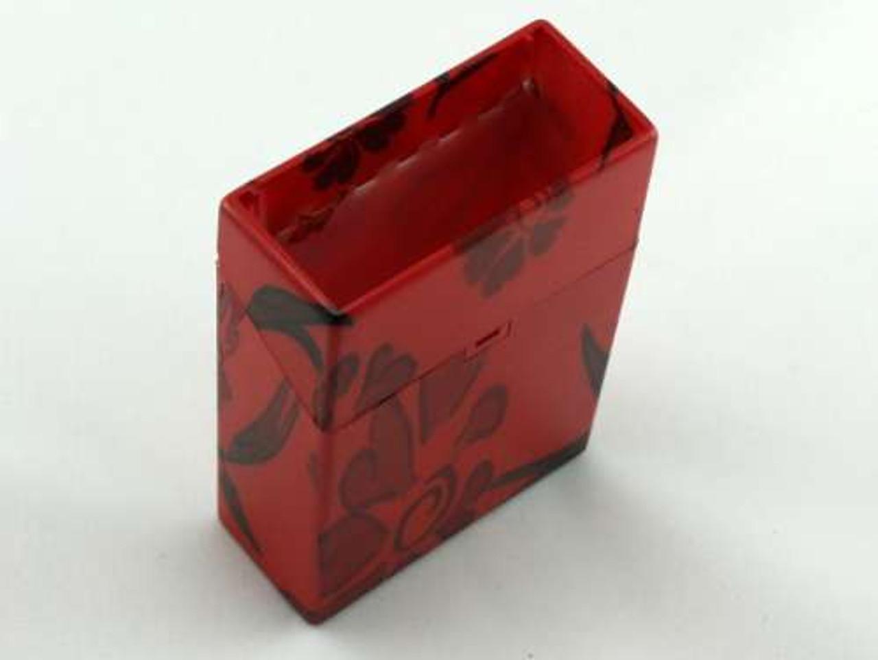 Red Flower Cigarette Pack Holder