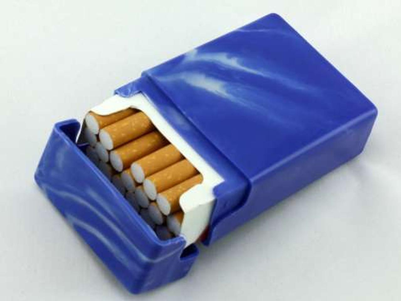 Blue Swirl Cigarette Pack Holder