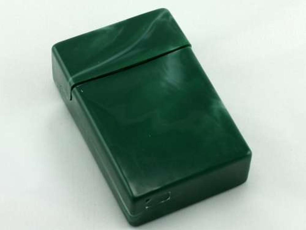 Green Swirl Cigarette Pack Holder