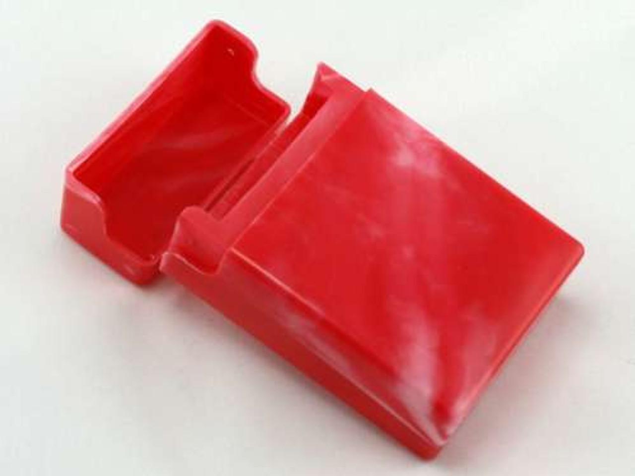 Red Swirl Cigarette Pack Holder