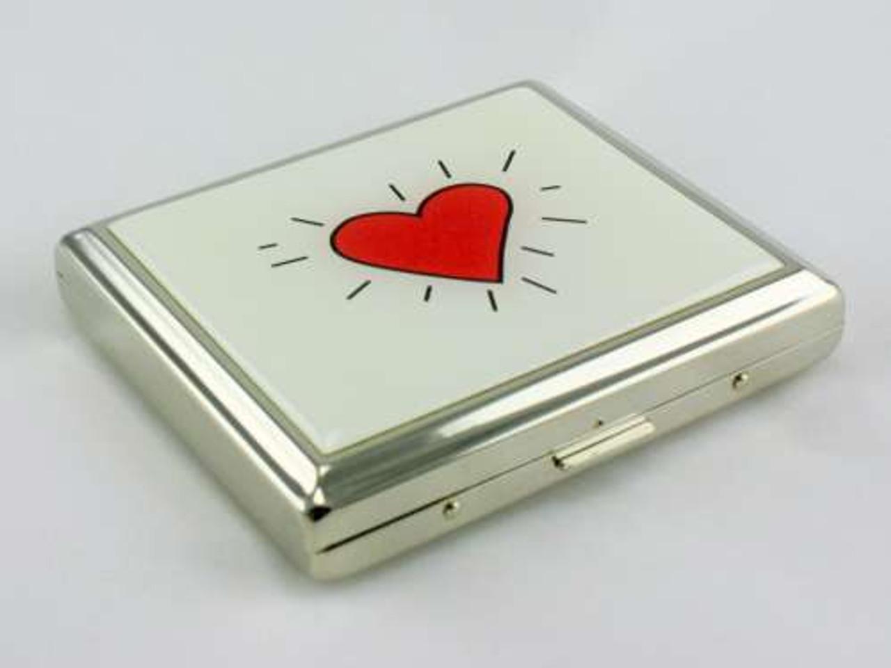 Red Heart Cigarette Case