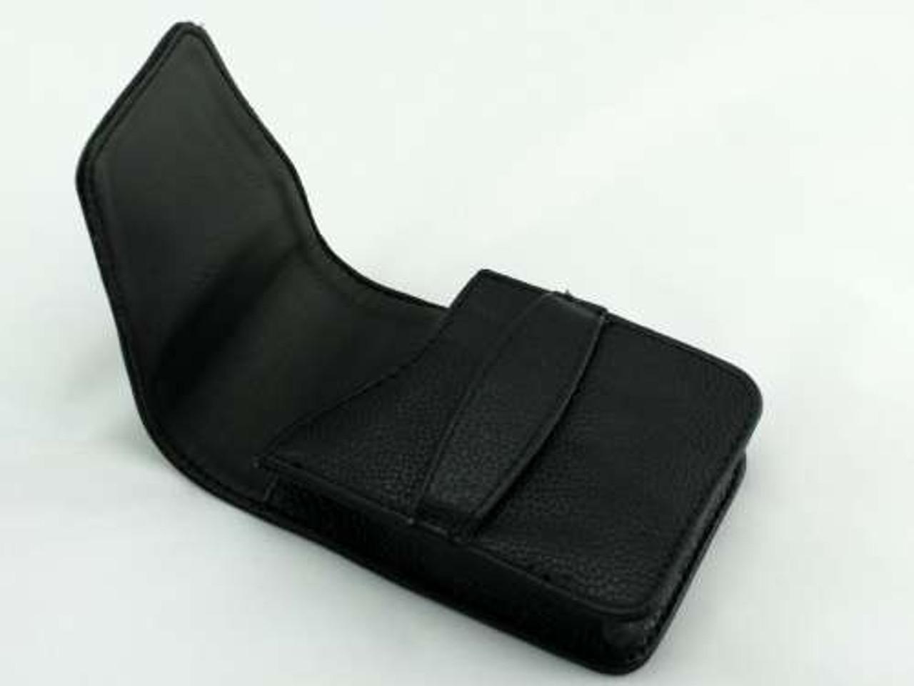 Black Slip Leather Cigarette Pack Holder
