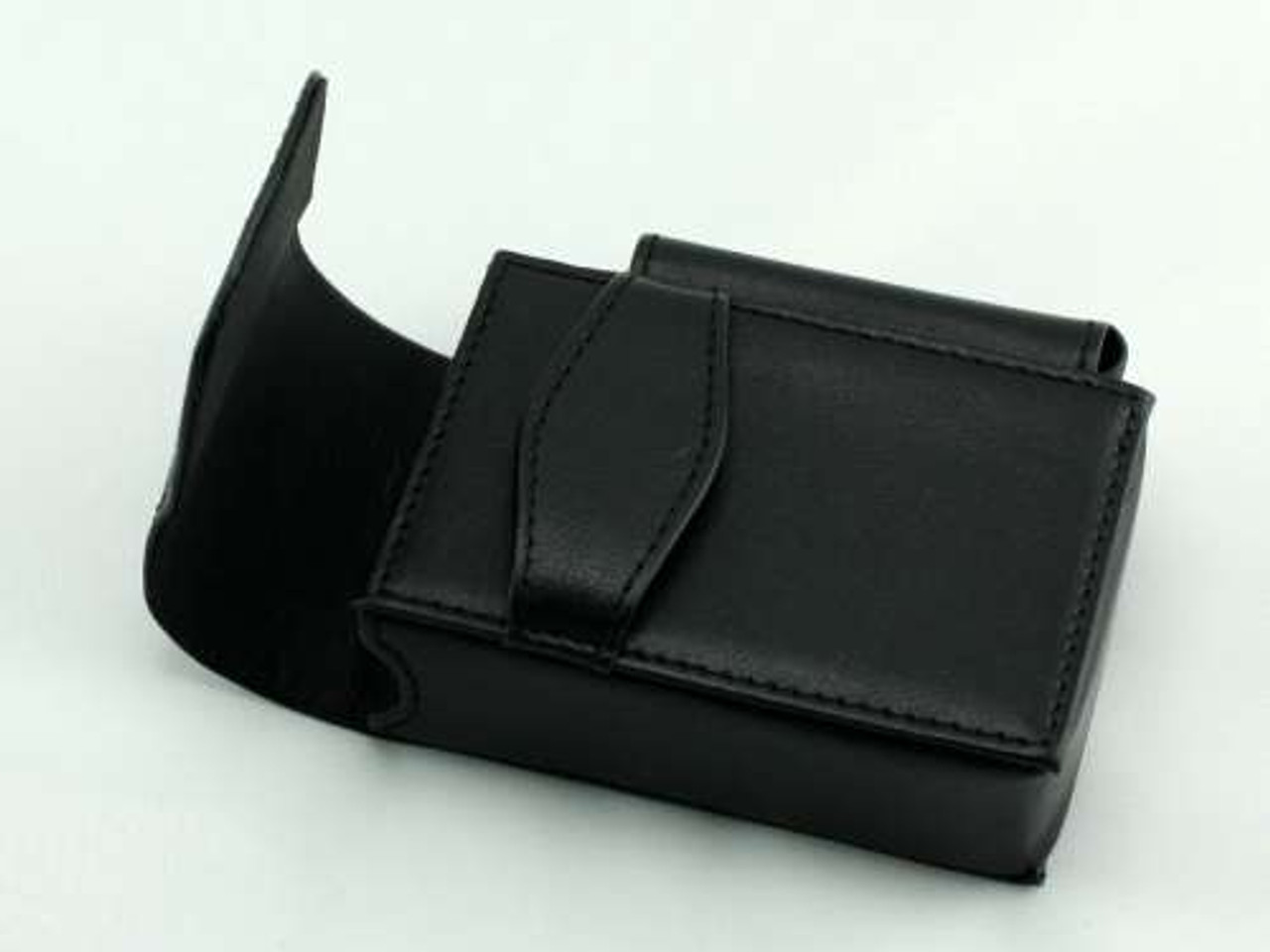 Black Strap Leather Cigarette Pack Holder