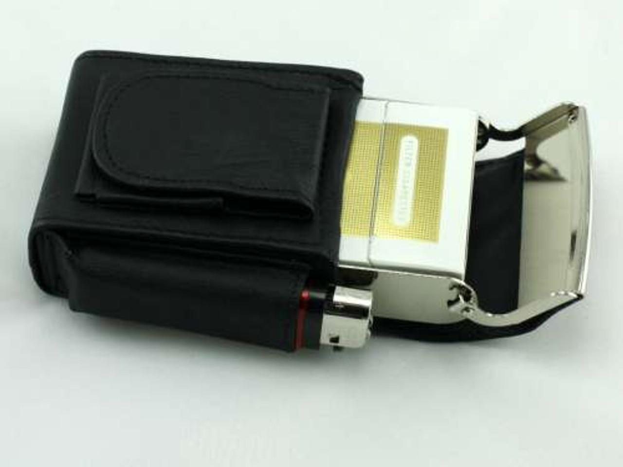 Black Box Leather Cigarette Pack Holder