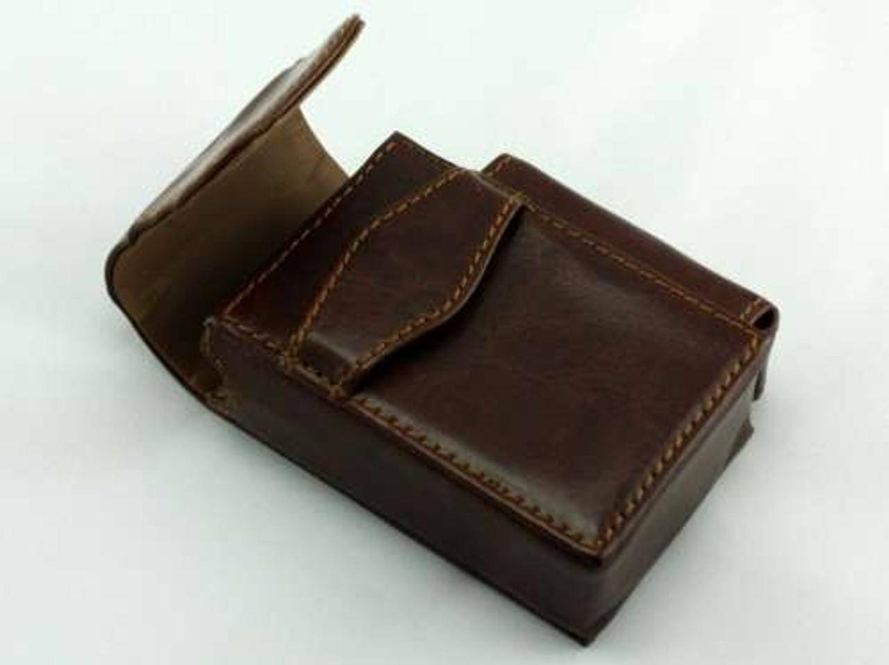 Brown Strap Leather Cigarette Pack Holder