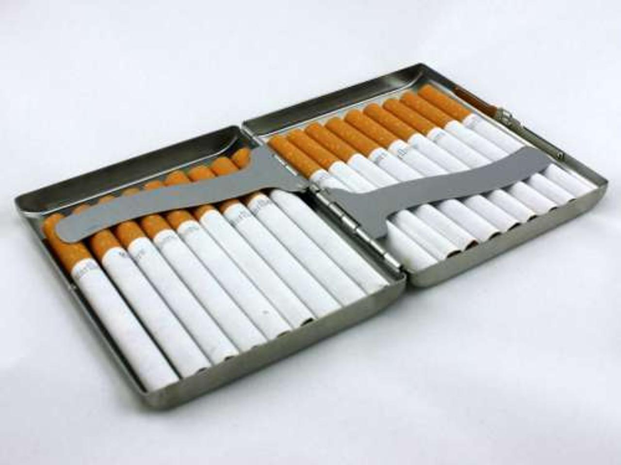 Black Grid Cigarette Case