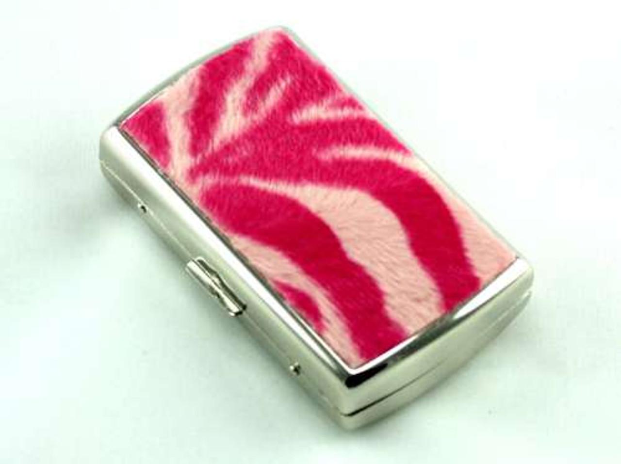 Pink Tiger Fur Cigarette Case