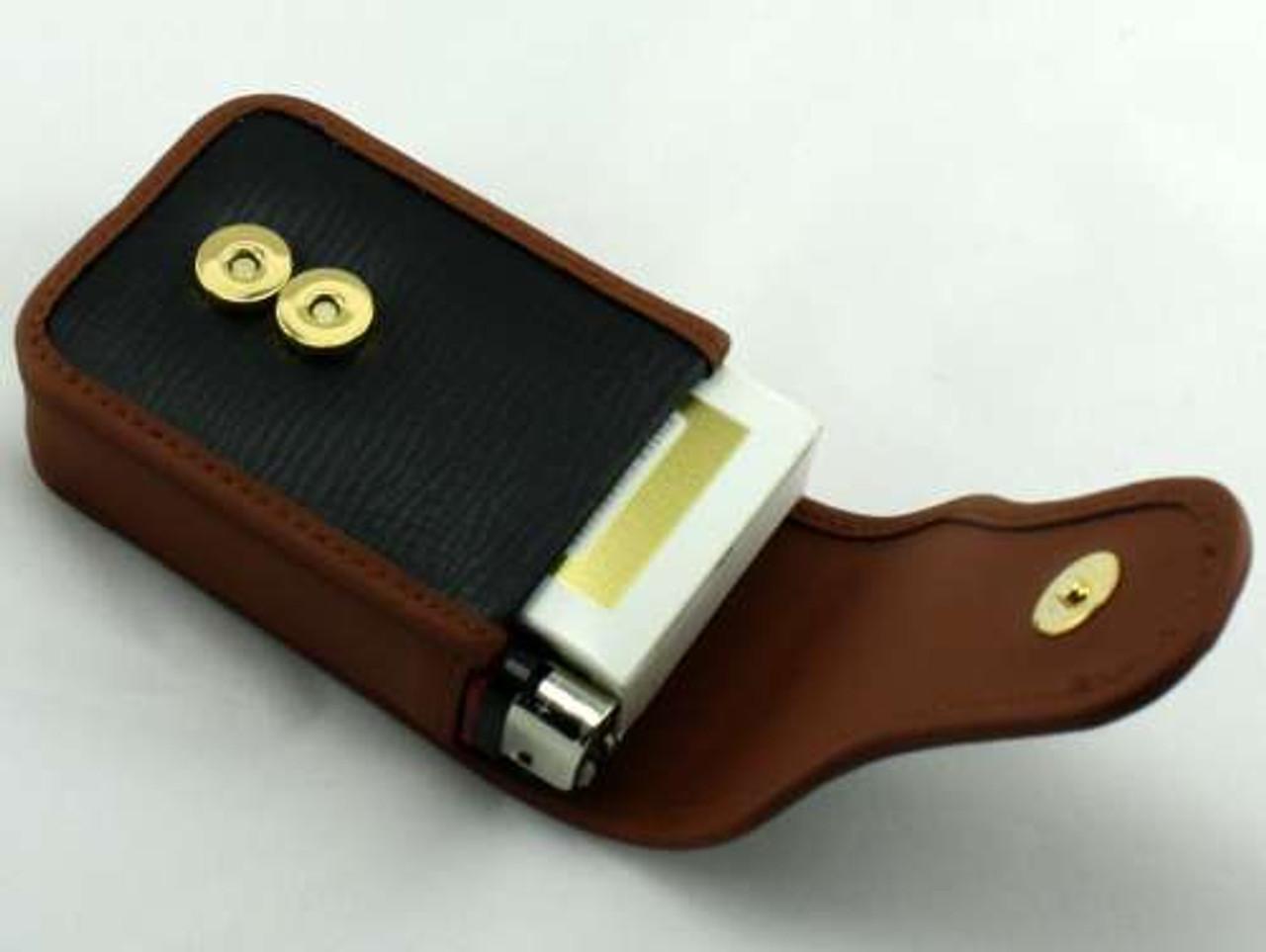 Western Leather Cigarette Pack Holder