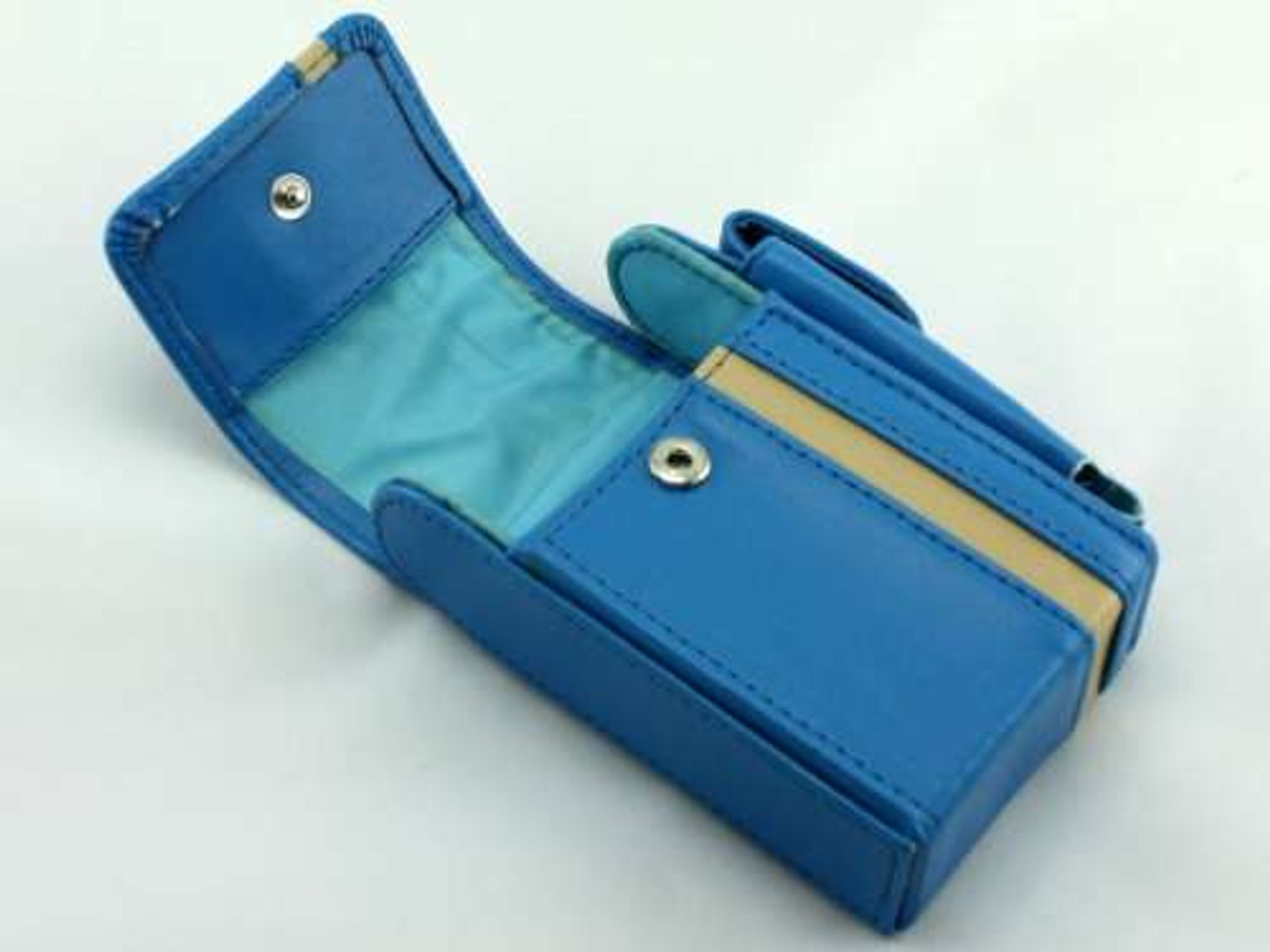 Blue Leather Cigarette Pack Holder