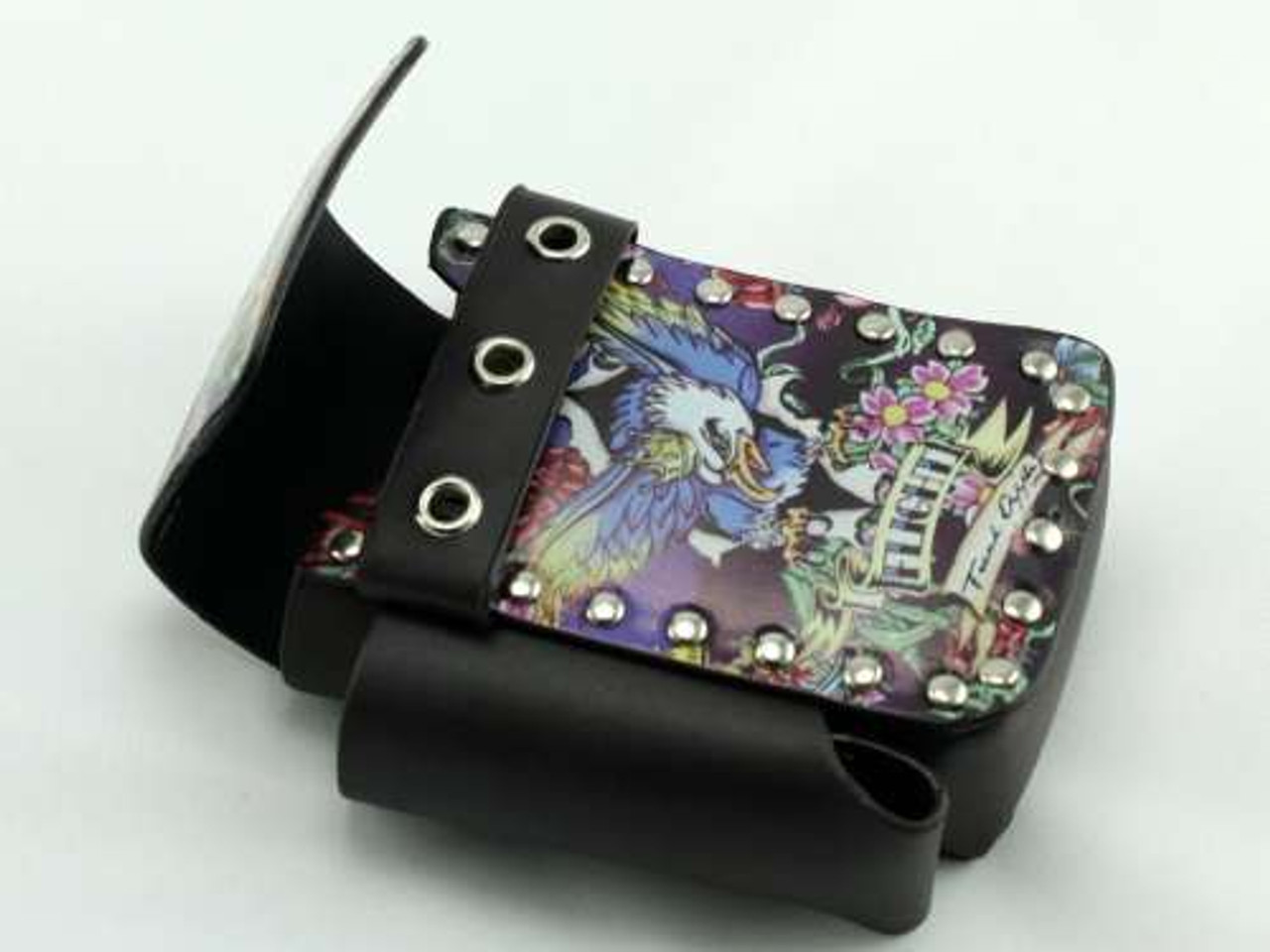 Wild Tattoo Leather Cigarette Pack Holder