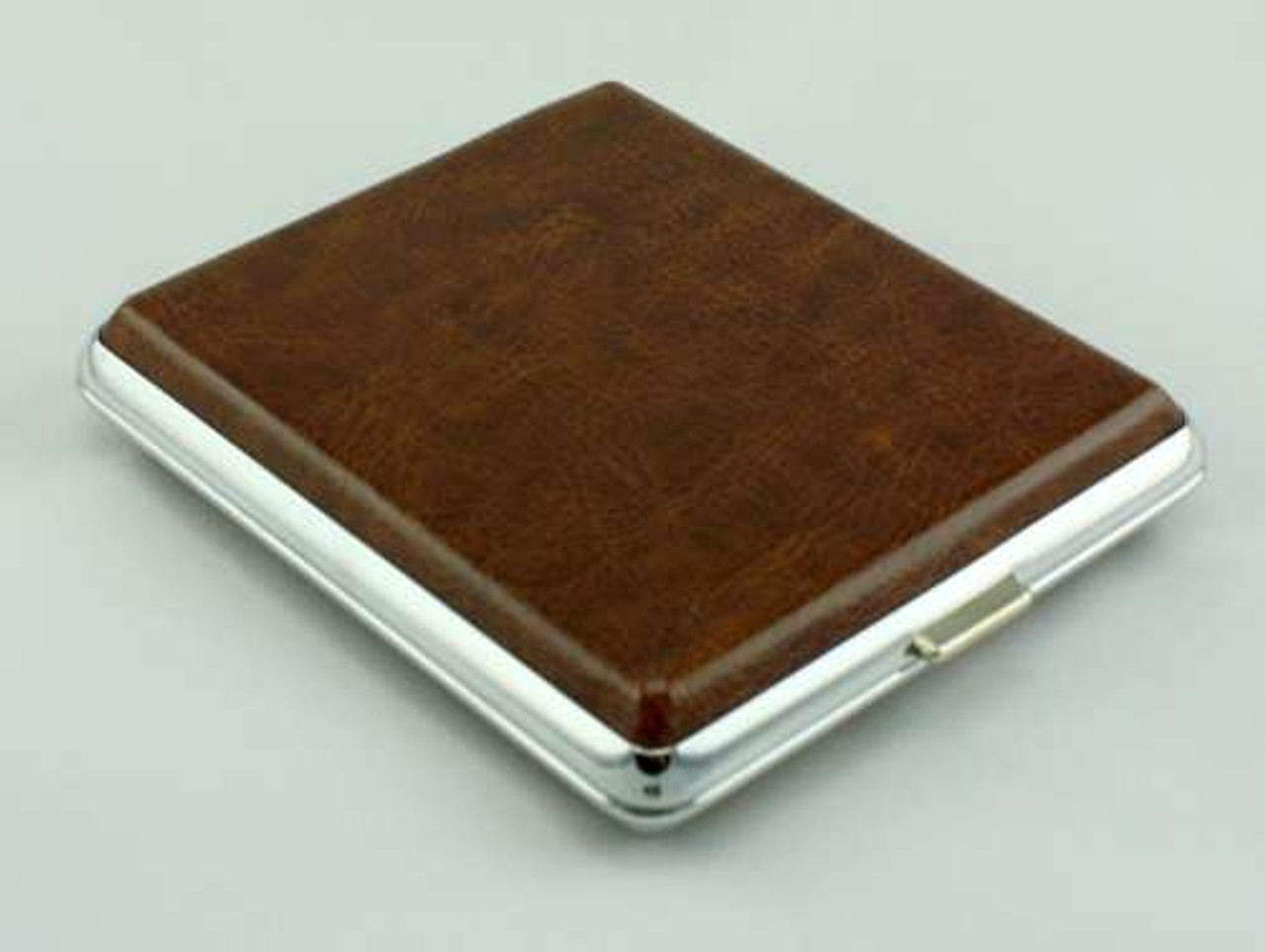 Smooth Brown Leather Cigarette Case