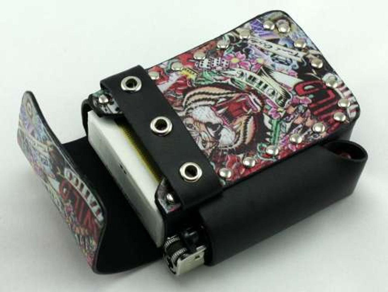 Dice Tattoo Leather Cigarette Pack Holder