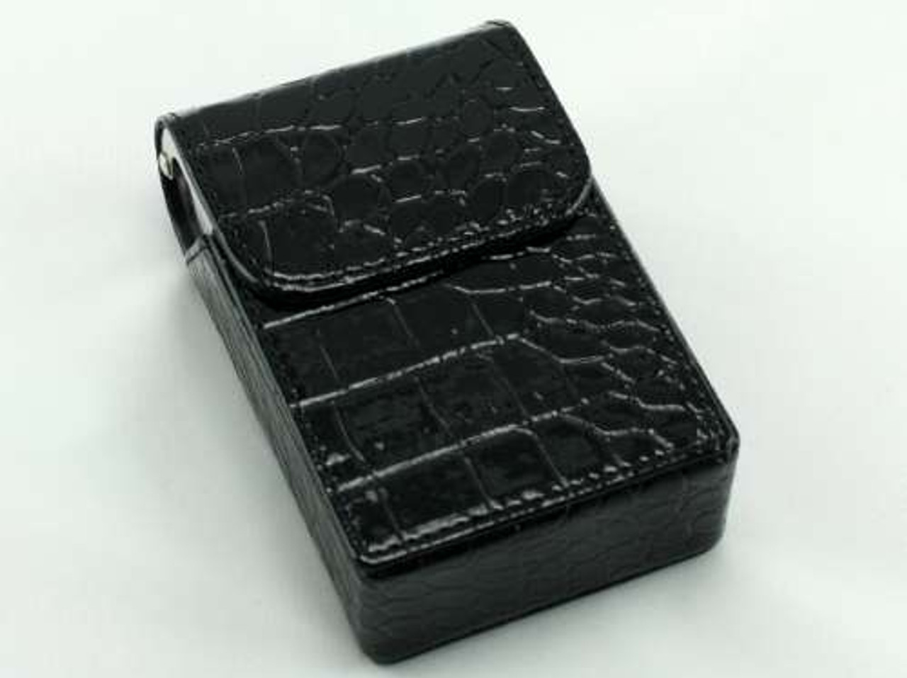 Black Crocodile Cigarette Pack Holder