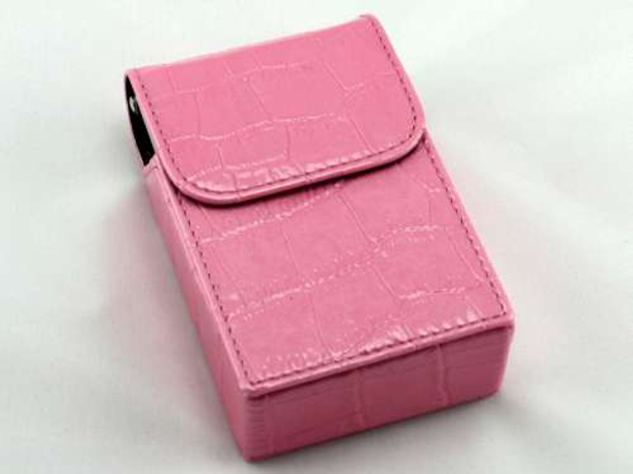 Pink Crocodile Cigarette Pack Holder